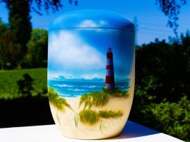 Eine Airbrush Urne für die Seebestattung
