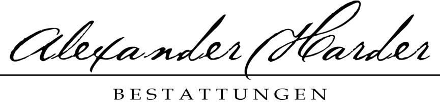 Das Geschäftslogo für Alexander Harder Bestattungen